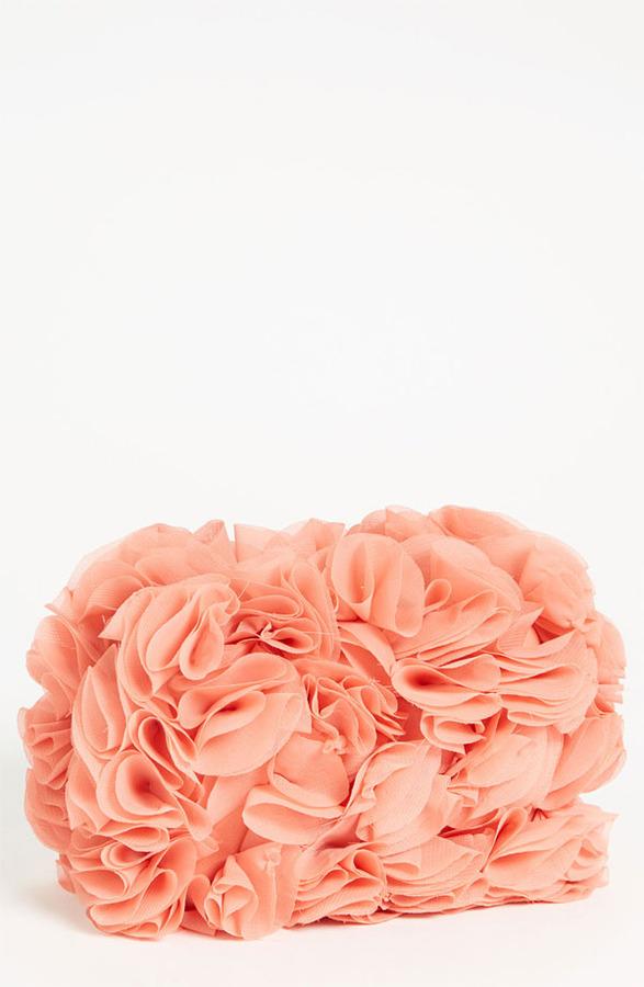Glint Ruffle Minaudiere Rose Porcelain