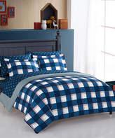 Idea Nuova Blue & White Hunter Plaid Four-Piece Bedding Set