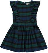 Morley Gardenia Ruffle Checked Flannel Dress