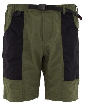 Gramicci Shell Gear Technical-panelled Shorts - Mens - Black Khaki