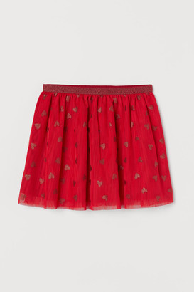 H&M Glittery Tulle Skirt - Red