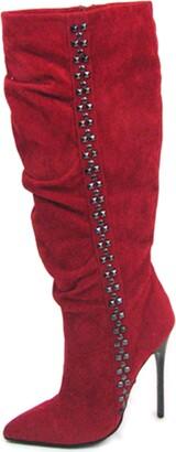 "The Highest Heel Unisex Fierce-71 4.5"" Calf High Boots with Carbon Fiber Heel Fashion"
