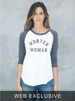 Junk Food Clothing Wonder Woman Raglan-ew/jb-s
