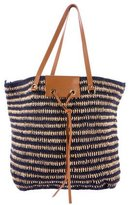 Vanessa Bruno Cotton & Raffia Shopper Tote