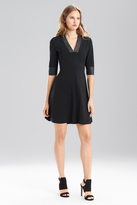 Josie Natori Bistretch With Leather Dress