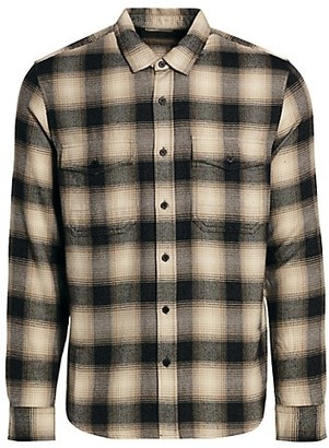7 For All Mankind Double Pocket Plaid Shirt