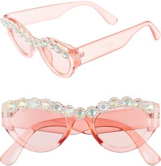 Rad + Refined 50mm Chunky Crystal Embellished Sunglasses
