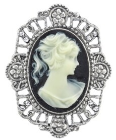 Downton Abbey Oval Cameo Pin