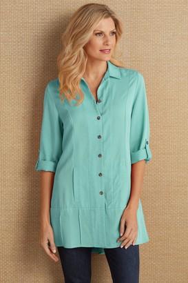 Petites Tencel Island Breeze Shirt