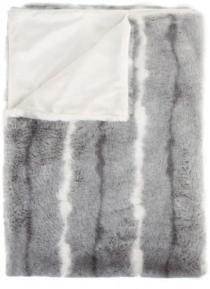 Luxe Faux Fur Striped Faux Fur Throw