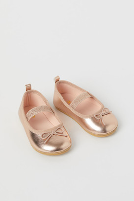 H&M Shimmery Shoes - Gold