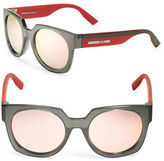 McQ by Alexander McQueen Color Block 53mm Round Sunglasses