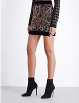 Balmain Embellished velvet skirt