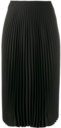 A.F.Vandevorst Pleated Midi Skirt