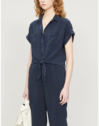 Bella Dahl Self-tie relaxed-fit lyocell top