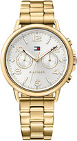 Tommy Hilfiger Women's Casual Sport Gold-Tone Stainless Steel Bracelet Watch 38mm 1781732