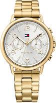 Tommy Hilfiger Women's Casual Sport Gold-Tone Stainless Steel Bracelet Watch 38mm 1781732