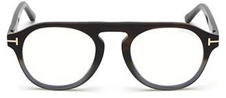 Tom Ford 49MM Blue Block Gradient Soft Round Eyeglasses