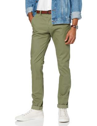 Tom Tailor Men's Skinny Chino Solid with Belt Trouser