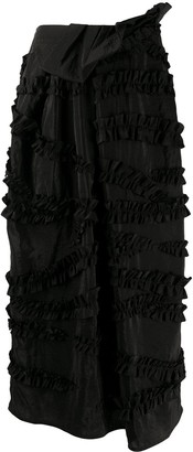 Christian Wijnants Ruffle Applique Skirt