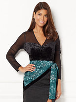 New York & Co. Eva Mendes Collection - Myra Velvet Lace Corset Top