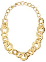Kenneth Jay Lane Golden Satin Link Chain Necklace