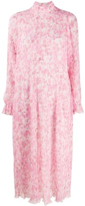 Ganni Floral-Print Frill-Detail Dress