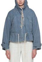 Etoile Isabel Marant Lagilly Hooded Drawstring Denim Jacket