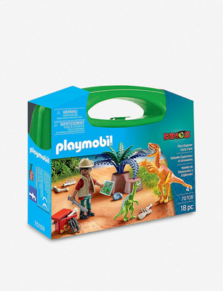 Playmobil Dinos Explorer carry case set