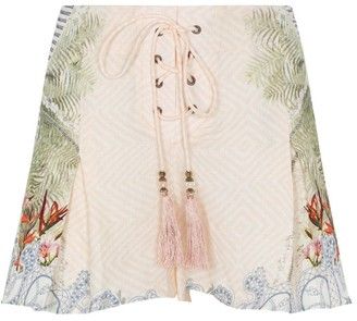 Camilla Beach Shack Lace-Up Front Shorts