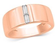 Bloomingdale's Men's Diamond Baguette 14K Rose Gold Band, 0.15 ct. t.w. - 100% Exclusive