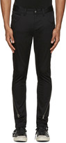 Diet Butcher Slim Skin Black Silhouette Zippered Trousers