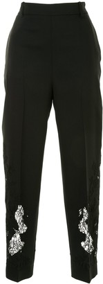 Ermanno Scervino Lace Embroidery Tapered Trousers
