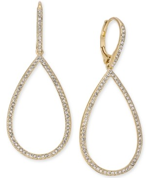 Eliot Danori Pave Open Drop Earrings, Created for Macy's
