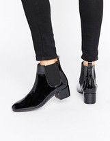Monki Patent Chelsea Ankle Boot