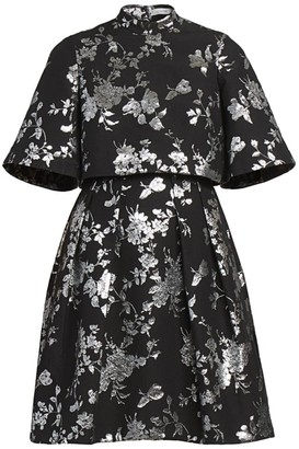 Erdem Favilla Lurex Rose Jacquard Dress