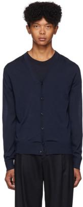 Ermenegildo Zegna Blue Fine Wool Cardigan