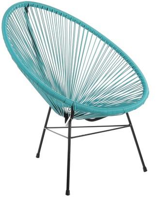 Joseph Allen Handmade Acapulco Turquoise Patio Lounge Chair