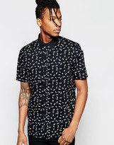 Religion Print Short Sleeved Shirt with Print
