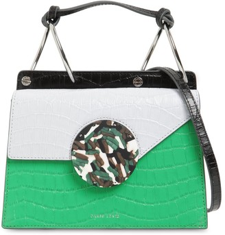 Danse Lente PHOEBE BIS CROC EMBOSSED LEATHER BAG