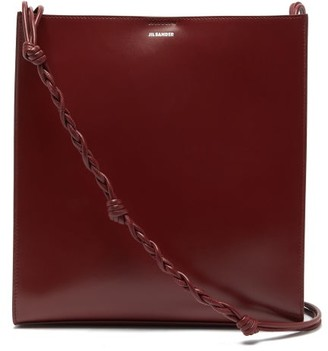 Jil Sander Tangle Medium Braided-strap Leather Shoulder Bag - Burgundy