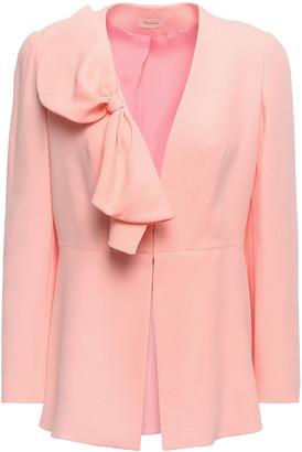 DELPOZO Bow-embellished Crepe Jacket
