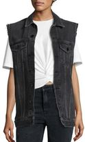 Alexander Wang Daze Faded Denim Vest