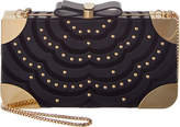 Salvatore Ferragamo Britty Flower Embellished Box Clutch