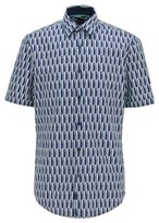 BOSS Regular-fit shirt in printed cotton and linen