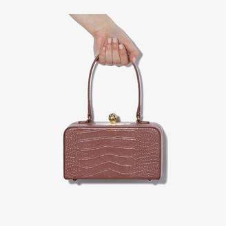 MEHRY MU Pink Luna mock croc leather box bag