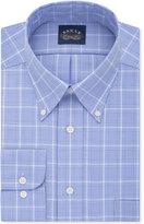 Eagle Men's Classic/Regular Fit Non-Iron Flex Collar Purple Check Dress Shirt