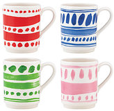 Kate Spade Pretty pantry set of 4 stacking mugs