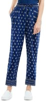 Women's Two By Vince Camuto Paisley Stamp Drawstring Ankle Pants