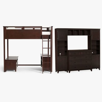 Pottery Barn Teen Hampton Loft Bed with Media & Bookcase Set & Dresser Super Set